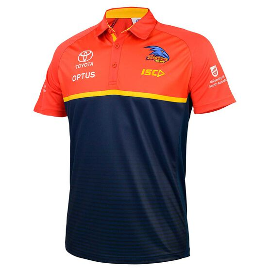 Adelaide Crows 2020 Mens Performance Polo Shirt Navy S, Navy, rebel_hi-res