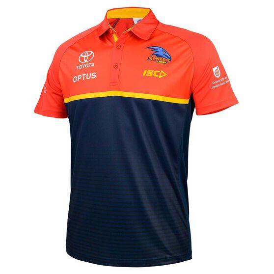 Adelaide Crows 2020 Mens Performance Polo Shirt, Navy, rebel_hi-res