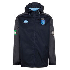 NSW Blues State of Origin 2020 Mens Vaposhield Wet Weather Jacket Navy S, Navy, rebel_hi-res