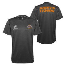 West Tigers 2021 Mens Performance Tee, Black, rebel_hi-res