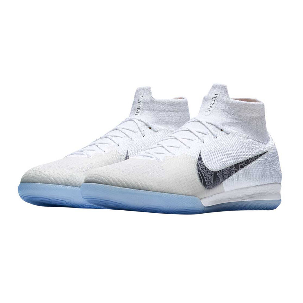 Nike Mercurial Superflyx VI Elite Mens Indoor Soccer Shoes White   Grey US  13 18fb1d4df1fc1
