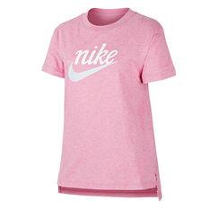 Nike Girls Sportswear DPTL Script Tee Pink XS, Pink, rebel_hi-res