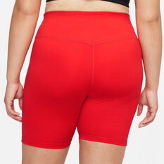 Nike One Womens Mid-Rise 7 Inch Tights Red XS, Red, rebel_hi-res