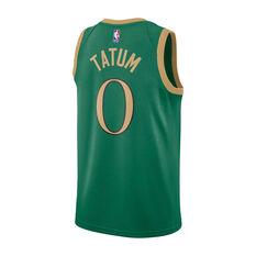 Nike Boston Celtics Jayson Tatum 2019/20 Mens City Edition Swingman Jersey Green S, Green, rebel_hi-res