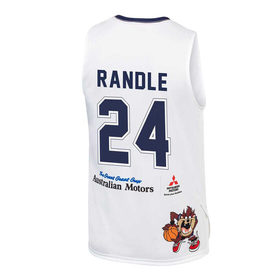 Adelaide 36ers Kids 2019/20 Looney Tunes Jerome Randle Jersey, White, rebel_hi-res