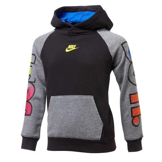 Nike Boys Just Do It Fly Hoodie, Grey/Black, rebel_hi-res