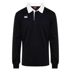 Retro Mens Long Sleeve Jersey Black XS, Black, rebel_hi-res