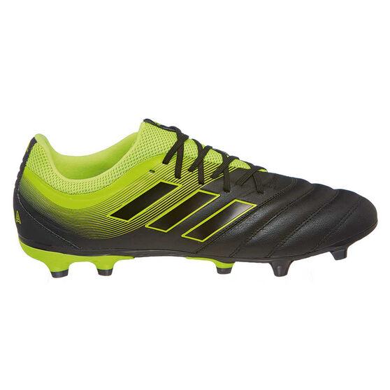 adidas Copa 19.3 Mens Football Boots, Black / Yellow, rebel_hi-res