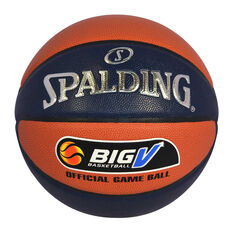 Spalding TF-1000 Big V Basketball Orange / Navy 6, Orange / Navy, rebel_hi-res