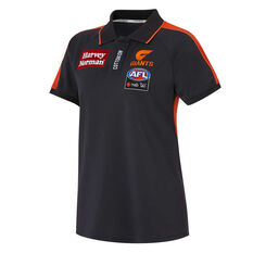 GWS Giants AFLW 2020 Womens Media Polo Navy XS, Navy, rebel_hi-res