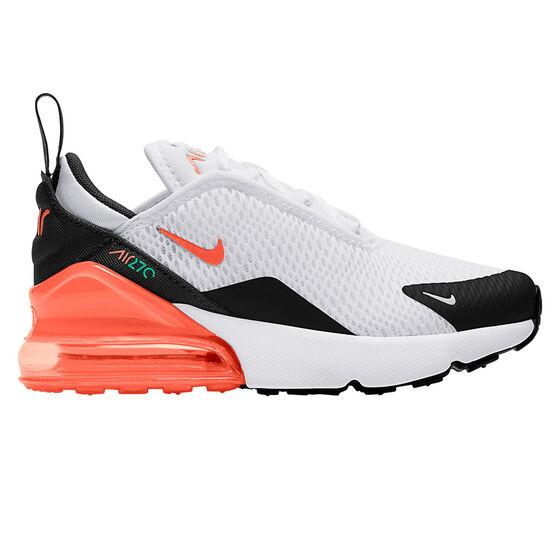 Nike Air Max 270 Kids Casual Shoes, Black/Orange, rebel_hi-res