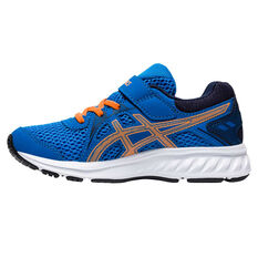 Asics Jolt 2 Kids Running Shoes Blue/Orange US 11, Blue/Orange, rebel_hi-res