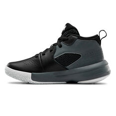 Under Armour Lockdown 4 Kids Basketball Shoes Black US 11, Black, rebel_hi-res
