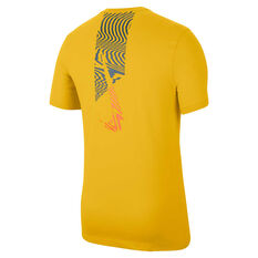 Nike Mens Dri-FIT Training Tee Yellow S, Yellow, rebel_hi-res