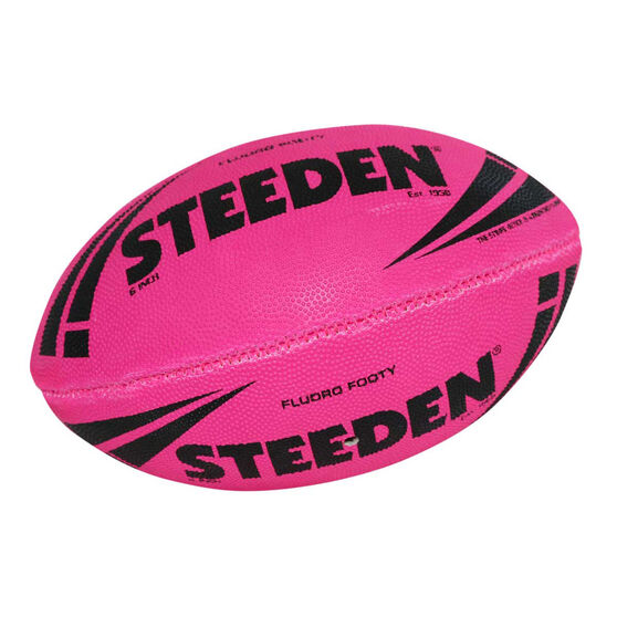 Steeden NRL Fluoro Rugby League Ball 6in, , rebel_hi-res