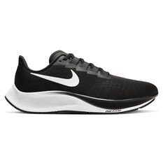 Nike Air Zoom Pegasus 37 4E Mens Running Shoes Black / White US 7, Black / White, rebel_hi-res