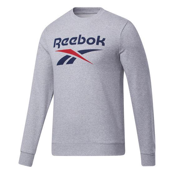 Reebok Mens Identity Big Logo Sweatshirt, Grey, rebel_hi-res