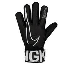 Nike Match Junior Goalkeeper Gloves Black / White 5, Black / White, rebel_hi-res