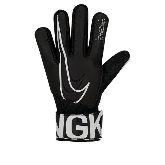 Nike Match Junior Goalkeeper Gloves Black / White 6, Black / White, rebel_hi-res