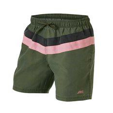 Zoggs Mens Axel Board Shorts Green S, Green, rebel_hi-res