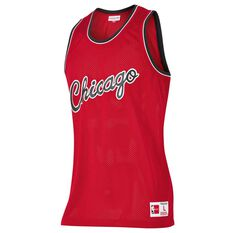 Mitchell and Ness Mens Chicago Bulls Mesh Tank Red S, Red, rebel_hi-res