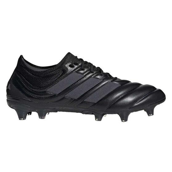 adidas Copa 19.1 Football Boots, Black / Silver, rebel_hi-res
