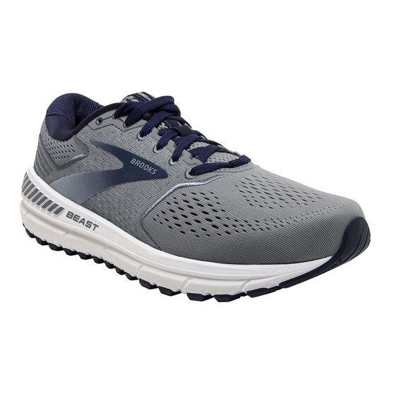 Brooks Beast 20 Mens Running Shoes, Blue/Grey, rebel_hi-res