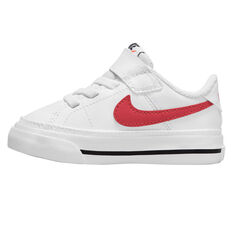 Nike Court Legacy Toddlers Shoes White/Red US 4, White/Red, rebel_hi-res