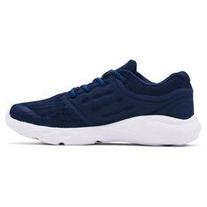 Under Armour Vantage AL Kids Running Shoes, Navy/White, rebel_hi-res