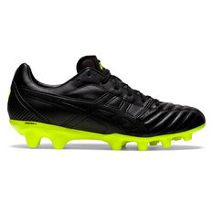 Asics Lethal Flash IT Football Boots Black/Yellow US Mens 7 / Womens 8.5, Black/Yellow, rebel_hi-res