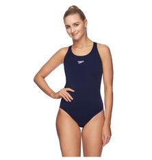 Speedo Womens Leaderback One Piece Swimsuit Navy 8 8, Navy, rebel_hi-res