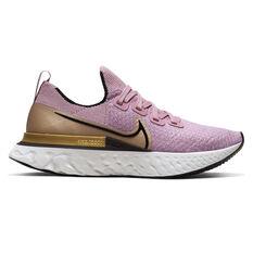Nike React Infinity Run Flyknit Womens Running Shoes Purple / Black US 6, Purple / Black, rebel_hi-res