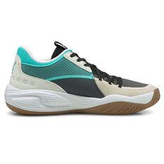 Puma Court Rider Summer Days Basketball Shoes White US 7, White, rebel_hi-res