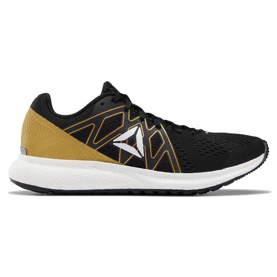 Reebok Forever Floatride Womens Running Shoes, Black / White, rebel_hi-res