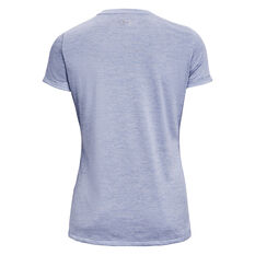 Under Armour Womens Tech Twist Tee, Blue, rebel_hi-res