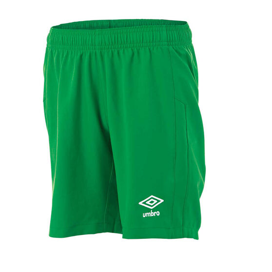 Umbro Kids Junior League Knit Shorts, Green, rebel_hi-res
