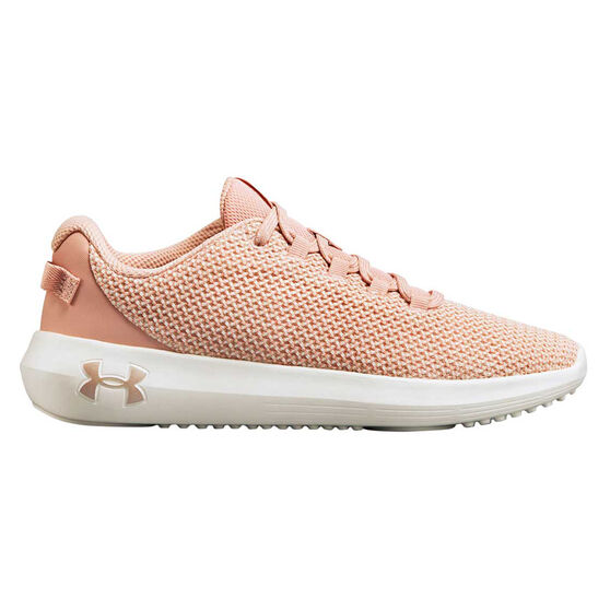 Under Armour Ripple Womens Casual Shoes, Pink / White, rebel_hi-res