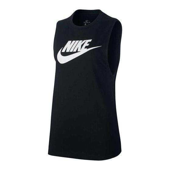 Nike Womens Sportswear Muscle Tank, Black, rebel_hi-res
