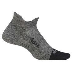 Feetures Elite Cushion No Show Tab Socks Grey M, Grey, rebel_hi-res