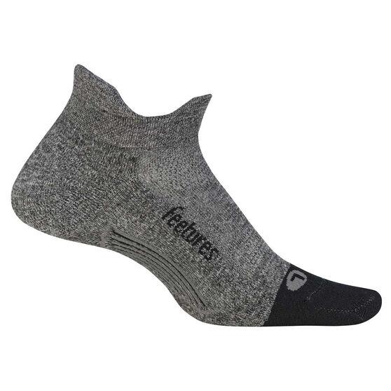 Feetures Elite Cushion No Show Tab Socks, Grey, rebel_hi-res