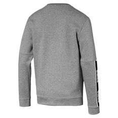 Puma Mens Amplified Long Sleeve Sweatshirt Grey S, Grey, rebel_hi-res