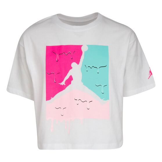 Nike Girls SS Graphic Tee, White, rebel_hi-res