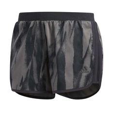 adidas Womens M10 Shorts Carbon XS Adult, Carbon, rebel_hi-res