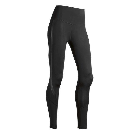 2XU Womens Hi Rise Compression Tights, Black, rebel_hi-res