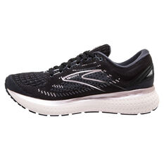 Brooks Glycerin GTS 19 Womens Running Shoes, Black/Silver, rebel_hi-res