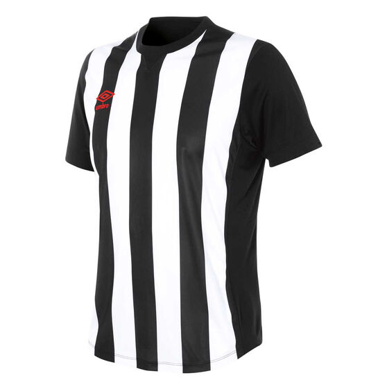 Umbro Mens Striped Jersey, White / Black, rebel_hi-res