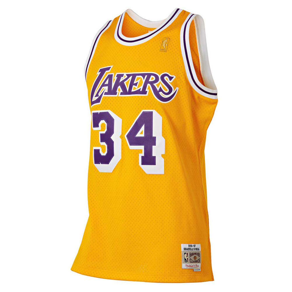 3d886a218 Mitchell   Ness Los Angeles Lakers Shaquille O Neal 1996   97 Swingman  Basketball Jersey
