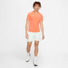 NikeCourt AeroReact Rafa Slam Mens Tennis Top, Orange, rebel_hi-res