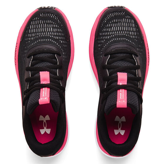 Under Armour Charged Bandit 7 Kids Running Shoes, Black/Pink, rebel_hi-res