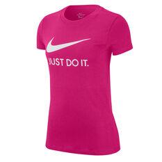 Nike Womens Sportswear Just Do It Tee Pink XS, Pink, rebel_hi-res